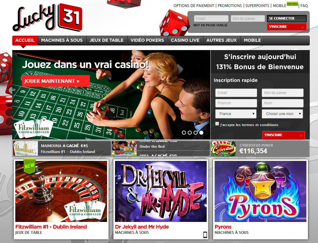 bonus casino lucky31